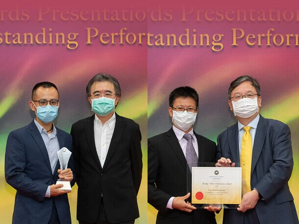 Dr Ma Guancong and Prof Zhou Changsong receive President's Award for Outstanding Performance