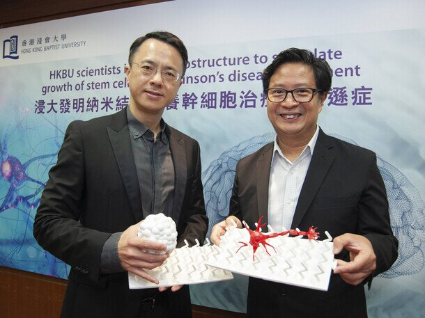 HKBU invents nanostructure that stimulates growth of stem cells for Parkinson's disease treatment